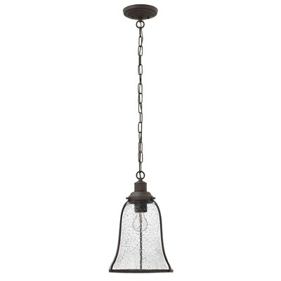 Marlowe 1-Light Mini Pendant Finish: Oil Rubbed Bronze, Size: 16.25 H x 10.75 W x 10.75 D