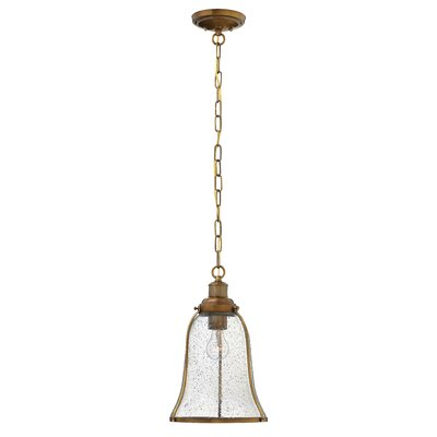 Marlowe 1-Light Mini Pendant Finish: Heritage Brass, Size: 16.25 H x 10.75 W x 10.75 D