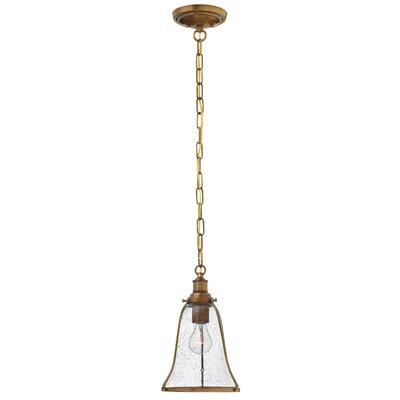 Marlowe 1-Light Mini Pendant Finish: Heritage Brass, Size: 12.75 H x 8 W x 8 D