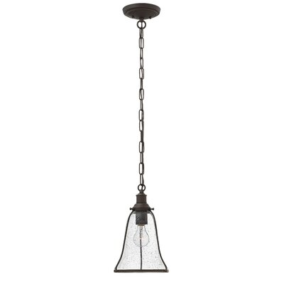 Marlowe 1-Light Mini Pendant Finish: Oil Rubbed Bronze, Size: 12.75 H x 8 W x 8 D