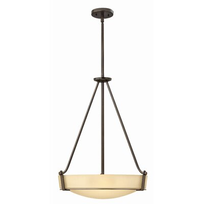 Bowl Pendant Finish: Olde Bronze, Bulb Type: Incandescent, Size: 29.3 H x 26.75 W x 26.75 D