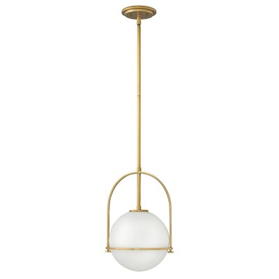 Somerset 1-Light Globe Pendant Finish: Heritage Brass