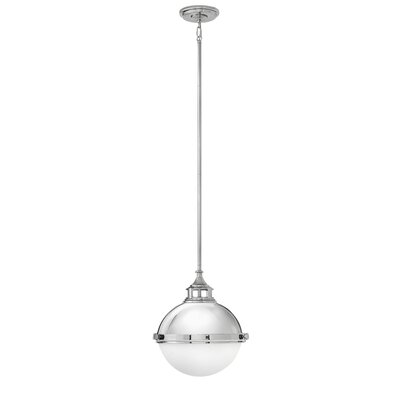 Fletcher 2-Light Globe Pendant Finish: Polished Nickel