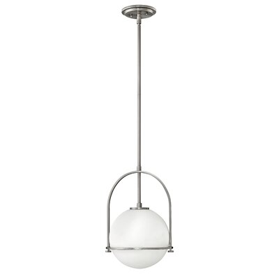 Somerset 1-Light Globe Pendant Finish: Brushed Nickel