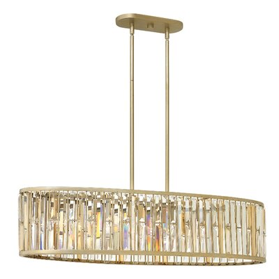 Mereworth 6-Light Crystal Chandelier Finish: Silver Leaf