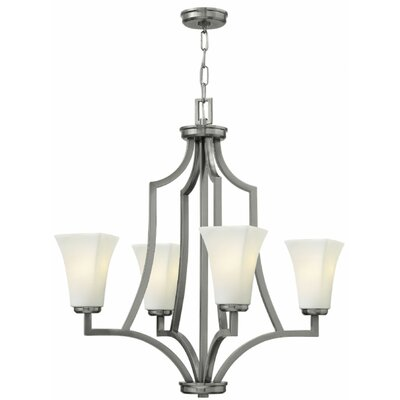Spencer 4-Light Shaded Chandelier Finish: Brushed Nickel