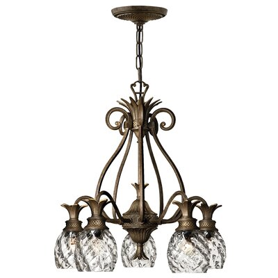 Plantation 5-Light Candle-Style Chandelier Finish: Pearl Bronze