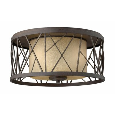 Rehberg 2-Light Flush Mount Fixture Finish: Oil Rubbed Bronze