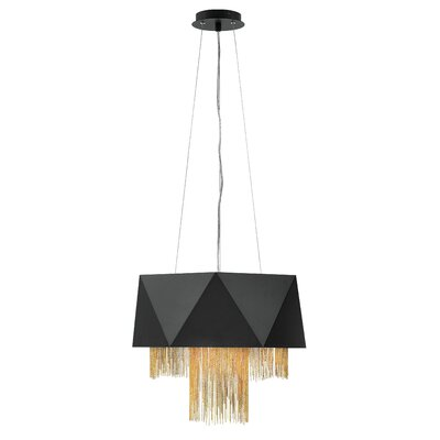 Fabien 6-Light Drum Pendant Finish: Satin Black