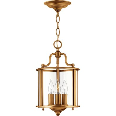 Gentry 3-Light Foyer Pendant Finish: Polished Nickel