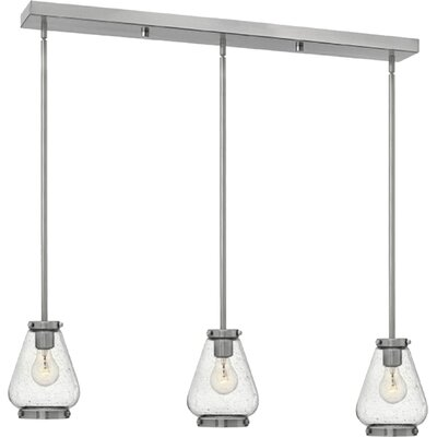 Etzel 3-Light Kitchen Island Pendant Color: Brushed Nickel