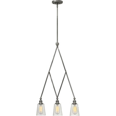 Lenita 3-Light Kitchen Island Pendant Finish: Polished Antique Nickel