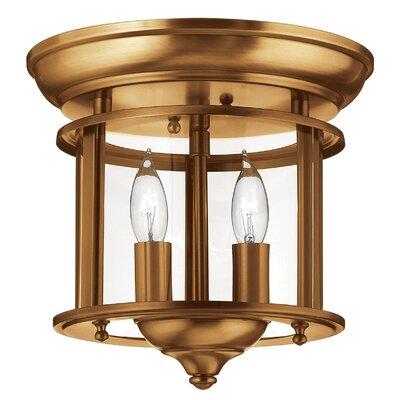 Gentry 2-Light Flush Mount Finish: Bulb Type