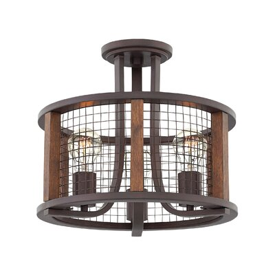 Fifi 3-Light Semi Flush Mount