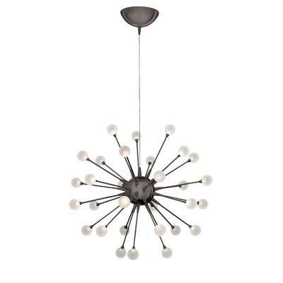 Melanie 30-Light LED Sputnik Chandelier Finish: Black Chrome