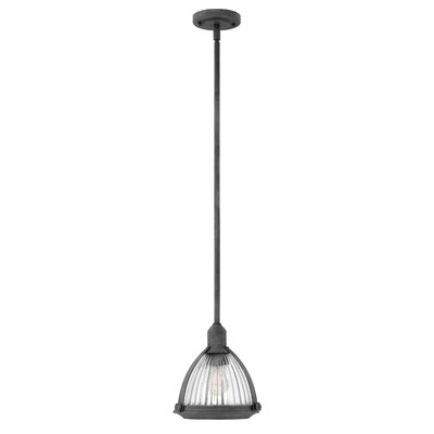 Hargrove 1-Light Mini Pendant Color: Aged Zinc