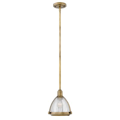 Hargrove 1-Light Mini Pendant Color: Heritage Brass