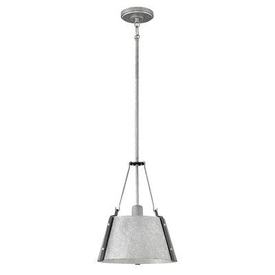 Dobbs Ferry Modern 1-Light Mini Pendant Finish: Galvanized
