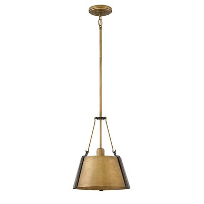 Dobbs Ferry Modern 1-Light Mini Pendant Finish: Rustic Brass