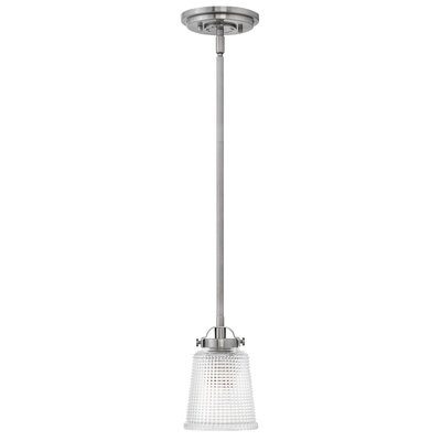 Carlyle 1-Light Mini Pendant Finish: Polished Antique Nickel