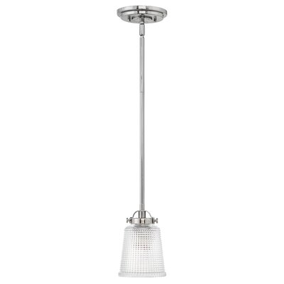 Carlyle 1-Light Mini Pendant Finish: Polished Nickel