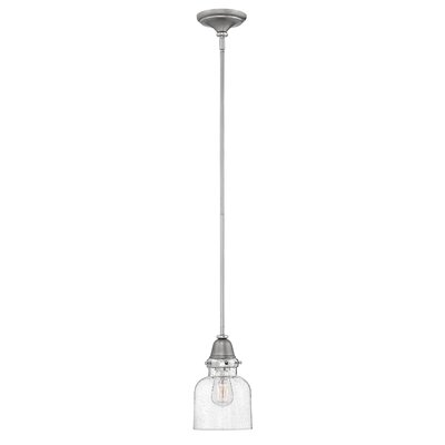 Jayda 1-Light Steel Mini Pendant Finish: English Nickel