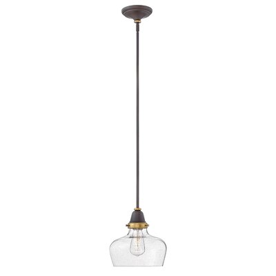 Jayda 1-Light Glass Shade Mini Pendant Finish: Oil Rubbed Bronze