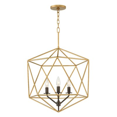 Athens 3-Light Foyer Pendant Finish: Deluxe Gold