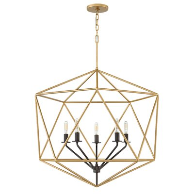 Athens 5-Light Foyer Pendant Finish: Deluxe Gold