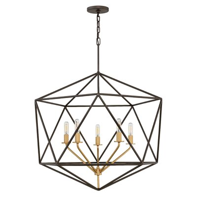 Athens 5-Light Foyer Pendant Finish: Metallic Matte Bronze