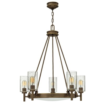 Driden 5-Light Candle-Style Chandelier Finish: Light Oiled Bronze