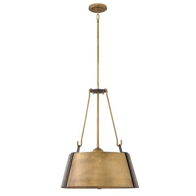 Dobbs Ferry 3-Light Inverted Pendant Finish: Rustic Brass