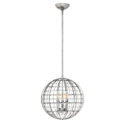 Bolger 3-Light Globe Pendant Finish: Polished Nickel