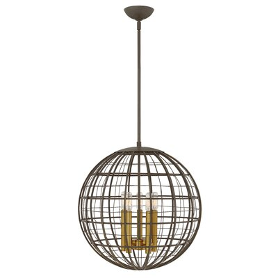 Bolger 5-Light Globe Pendant Finish: Oiled Bronze