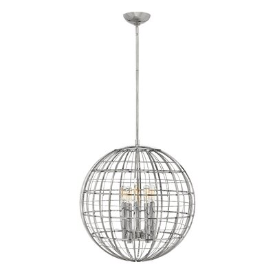 Bolger 5-Light Globe Pendant Finish: Polished Nickel