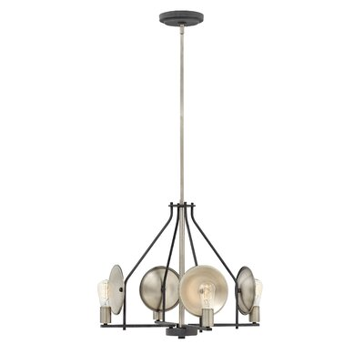 Anspach 4-Light Candle-Style Chandelier Finish: Aged Zinc