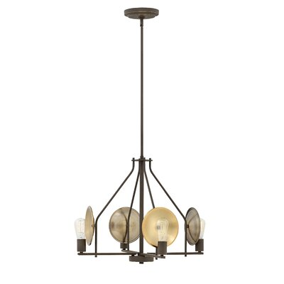 Anspach 4-Light Candle-Style Chandelier Finish: Oil Rubbed Bronze