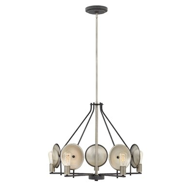 Anspach 5-Light Candle-Style Chandelier Finish: Aged Zinc