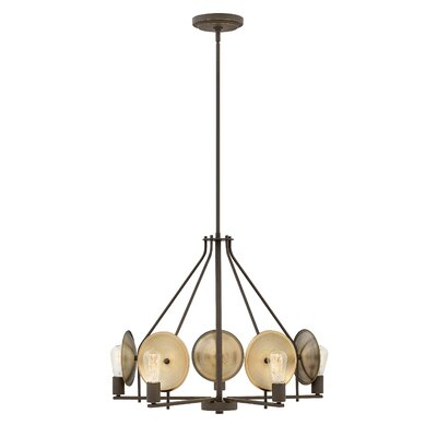 Anspach 5-Light Candle-Style Chandelier Finish: Oil Rubbed Bronze