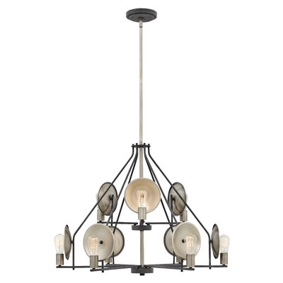 Anspach 9-Light Candle-Style Chandelier Finish: Aged Zinc