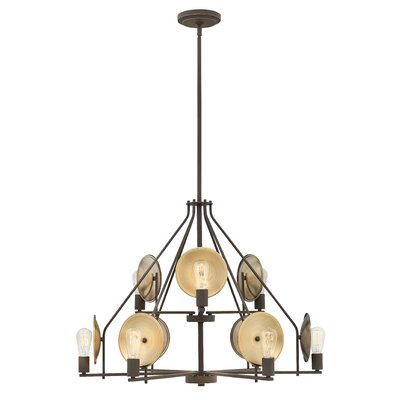Anspach 9-Light Candle-Style Chandelier Finish: Oil Rubbed Bronze