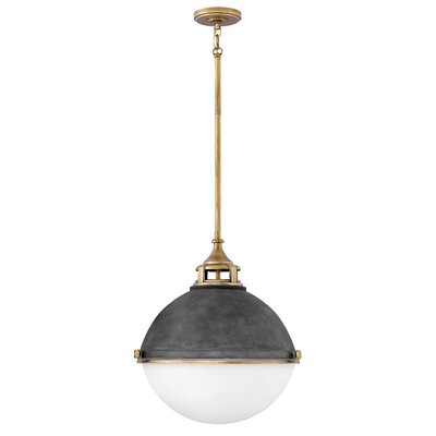 Cale 2-Light Globe Pendant Finish: Aged Zinc