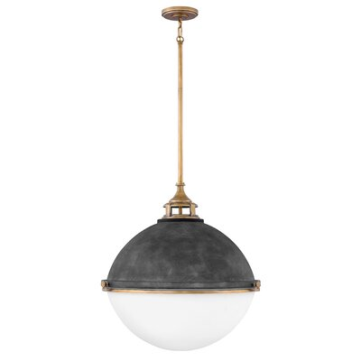 Cale 3-Light Globe Pendant Finish: Aged Zinc