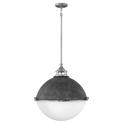 Cale 3-Light Globe Pendant Finish: Aged Zinc with Polished Nickel