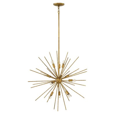 Tryst 12-Light Sputnik Chandelier Finish: Hammered Bronze