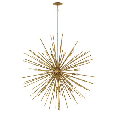 Rodrigo 16-Light Sputnik Chandelier Finish: Heirloom Brass