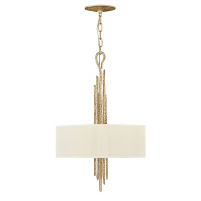 Spyre Single Tier 3-Light Drum Pendant Finish: Champagne Gold