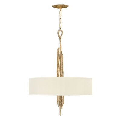 Pingree 6-Light Drum Pendant Finish: Champagne Gold