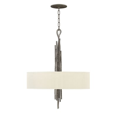 Pingree 6-Light Drum Pendant Finish: Metallic Matte Bronze