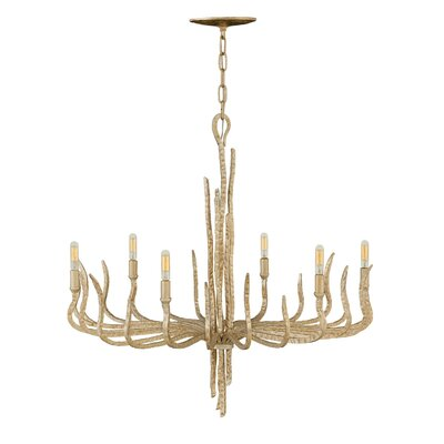 Spyre Single Tier 6-Light Candle-Style Chandelier Finish: Champagne Gold